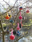 Knitted tree decorations