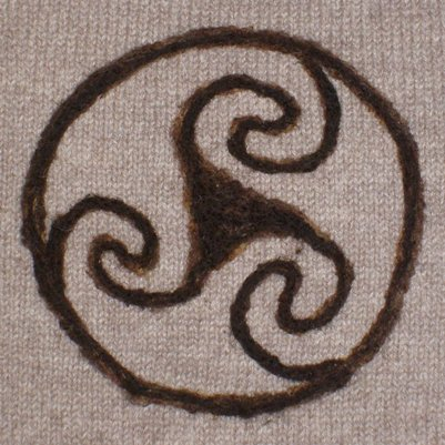 Celtic design needle felted