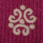 Celtic design needle felted