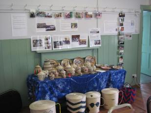 Baskets made by the women from Abihuje