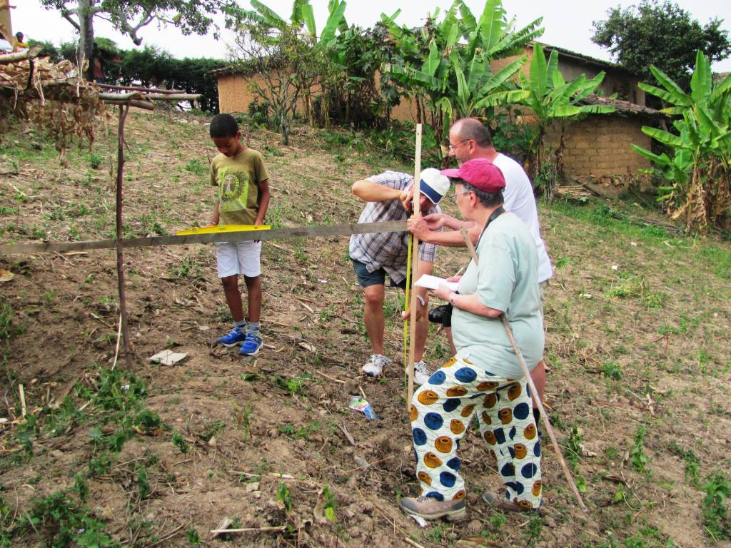 Measuring the land's elevation