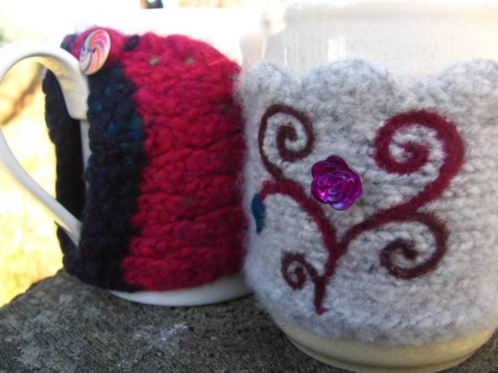 Mug cosies front and back