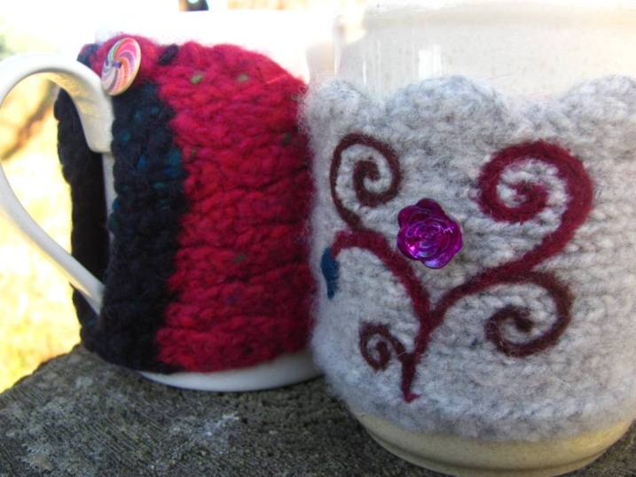 Mug cosies front and back